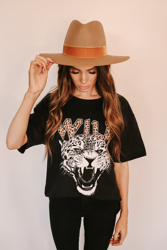 Black WILD Graphic Tee