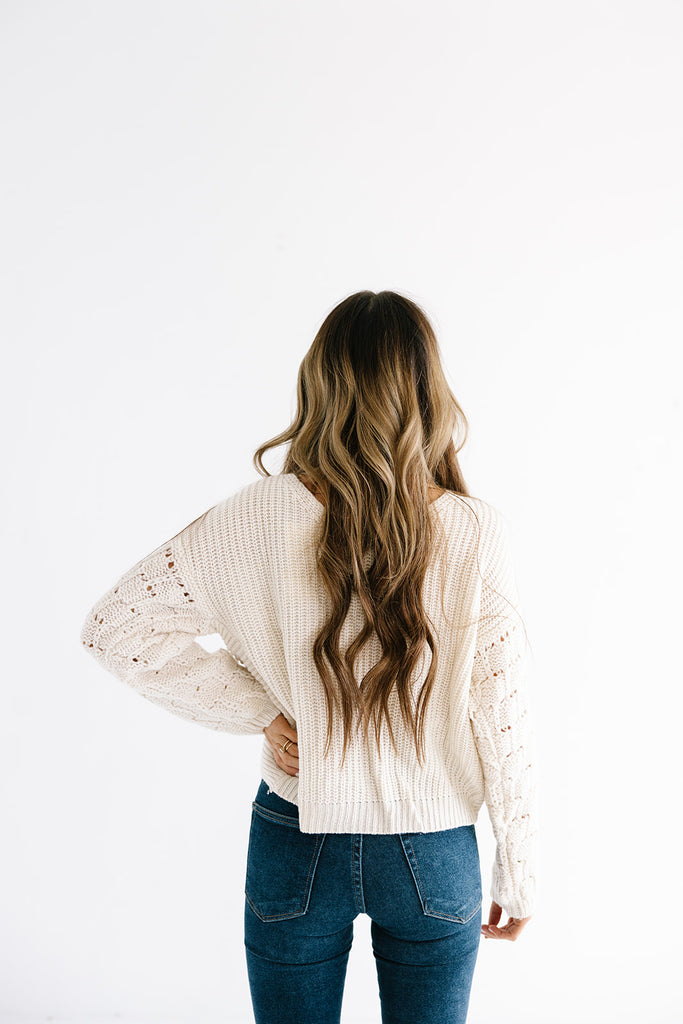 The Penelope Knotted Sweater