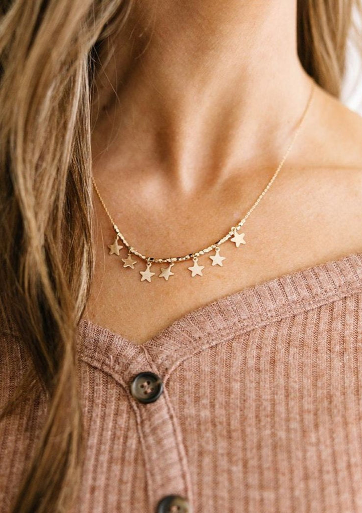 Reach For The Stars Necklace - Gold
