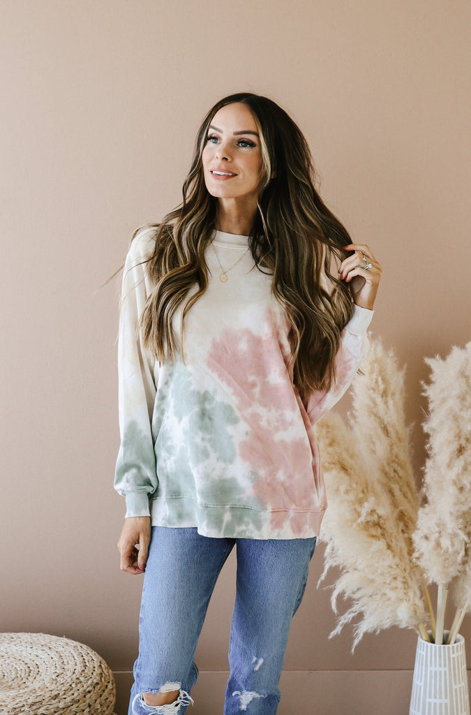 Neutral Queen Tie Dye Sweatshirt