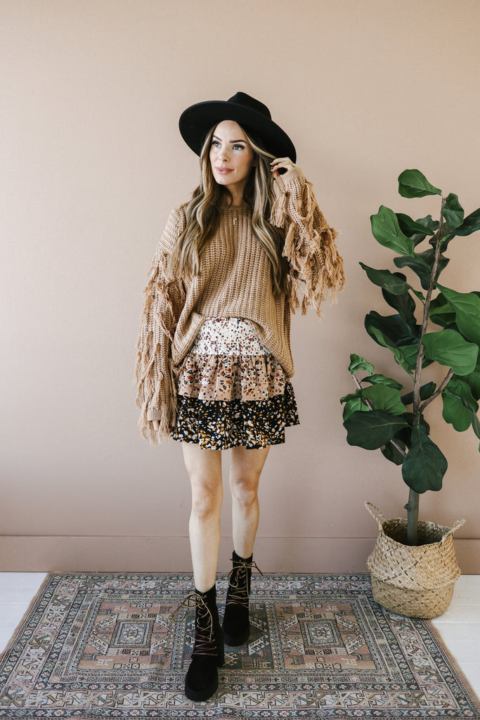 Neutral Ground Mini Skirt