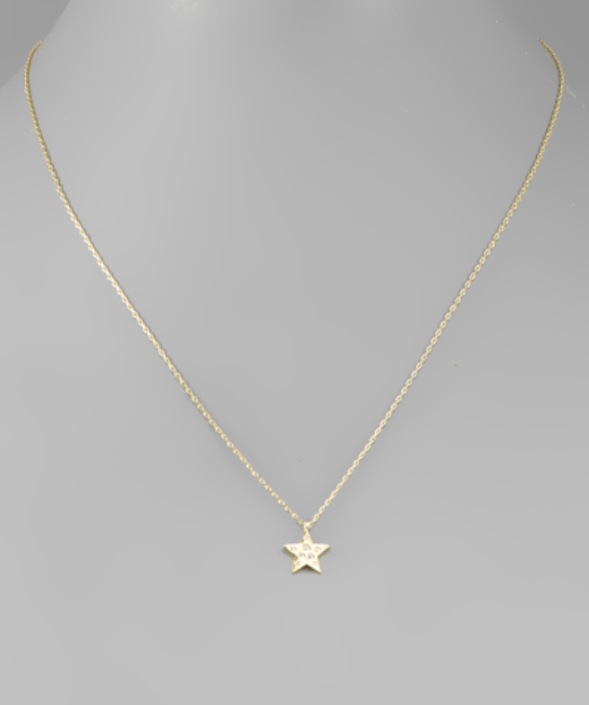 Studded Star Necklace