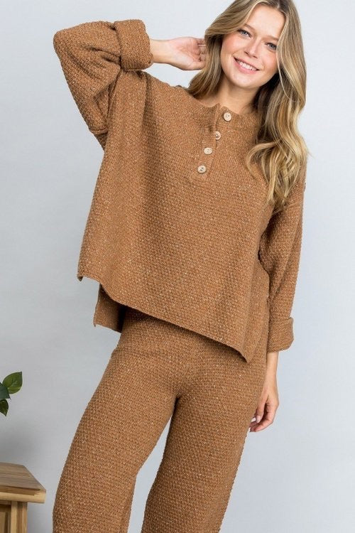 The James Knit Set - Camel