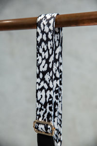 So-ho Bag Strap in Black & White Cheetah