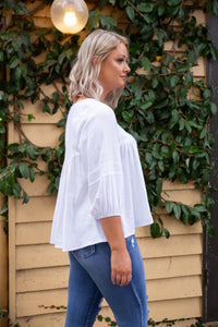 Caily Top in White