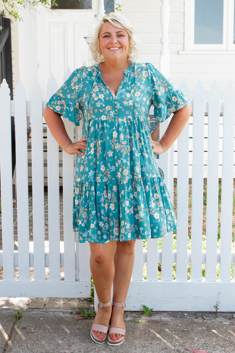 Tobi Dress in Aqua