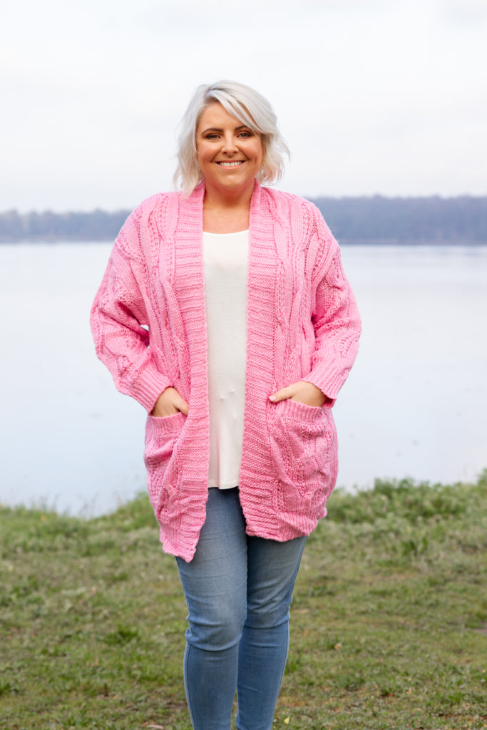 Evie Cardi in Fairy Floss Pink