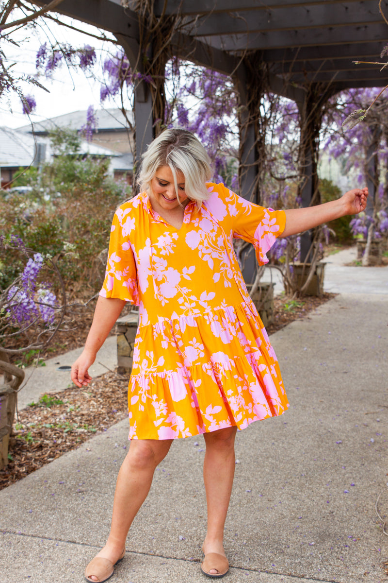 Lani Dress in Orange