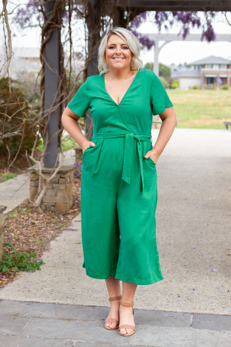 Hayley Jumpsuit in Green