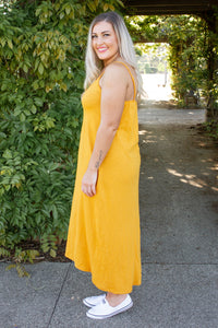 Miami Dress in Mustard