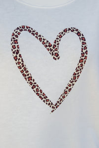 Stella & Gemma Cream Leopard Heart Sweater