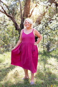Constance Dress in Plum