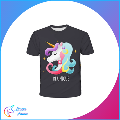 T-shirt Licorne Be Unique Enfant