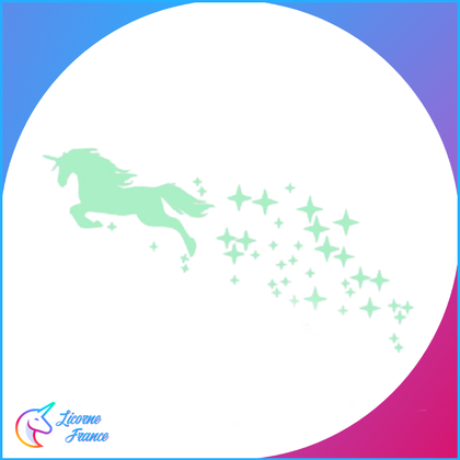 Stickers Licorne Fluorescent