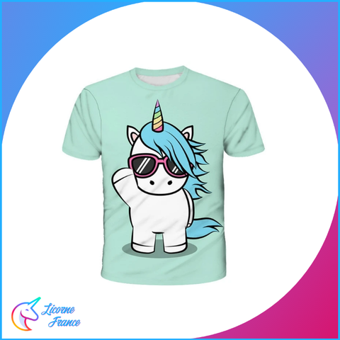 T-shirt Licorne Cool Enfant