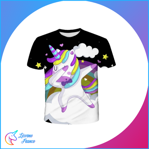 T-shirt Licorne Dab Galaxy Enfant