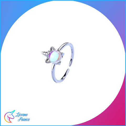 Bague Licorne Pierre de Lune - Licorne France