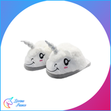 Chaussons Licorne Blanc peluche - Licorne France