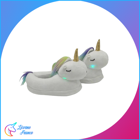 Chaussons Licorne Femme Lumineux - Licorne France