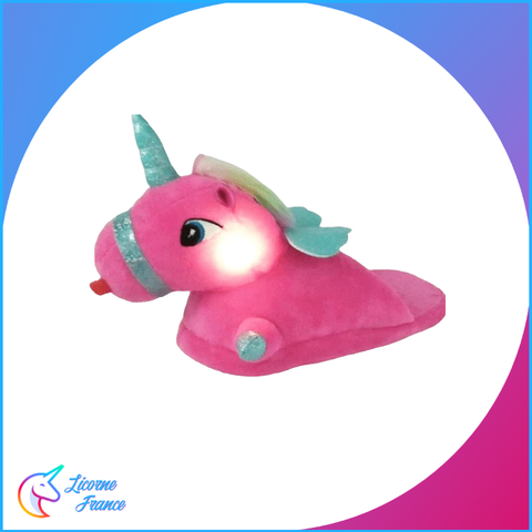 Chaussons Licorne Lumineux Rose C3 - Licorne France