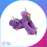 Chaussons Licorne Violet adulte - Licorne France