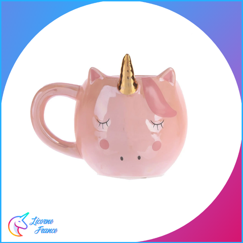Mug Licorne Dormante Rose - Licorne France