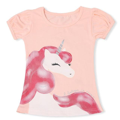 T-shirt Licorne Rose T1 Enfant - Licorne France