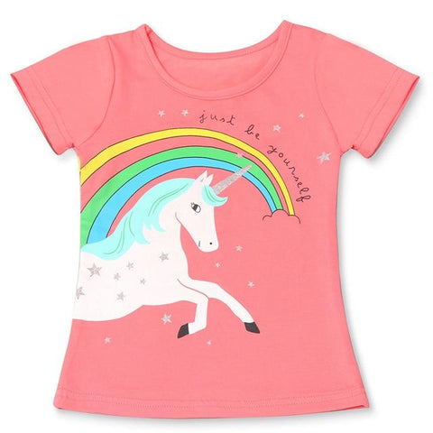 T-shirt Licorne Rose T2 Enfant - Licorne France