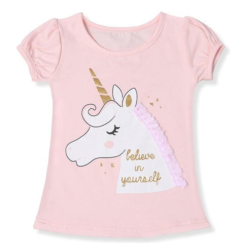 T-shirt Licorne Rose T3 Enfant - Licorne France