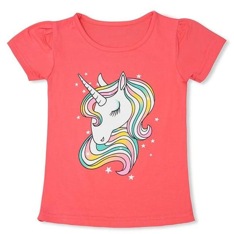 T-shirt Licorne Rose T5 Enfant - Licorne France