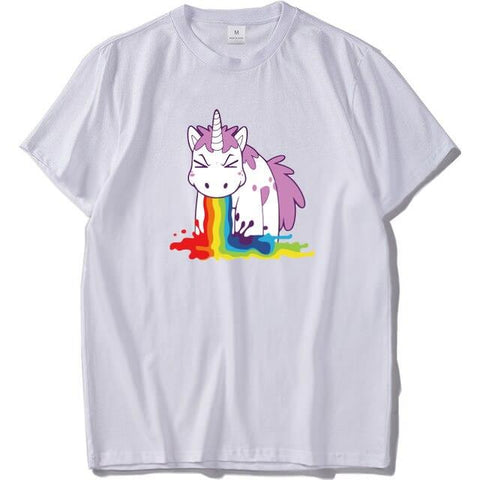 T-shirt Licorne Blanc Fun - Licorne France