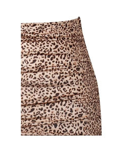 Vicious Leopard Ruched Skirt