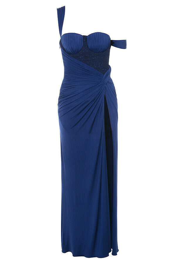 House of CB 'Charmaine' Midnight Blue Bodice Maxi Dress /Size M-US