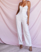 Load image into Gallery viewer, HOUSE OF CB 'Sancia' Oatmeal Linen Mix Jumpsuit /Size XL-US 10-12