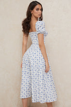 Load image into Gallery viewer, 'Tallulah' Blue White Floral Midi Dress