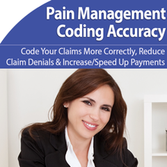 Pain management coding guidelines