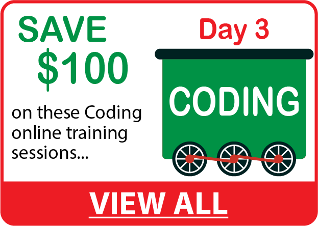 Save $100 on CODING Online Training