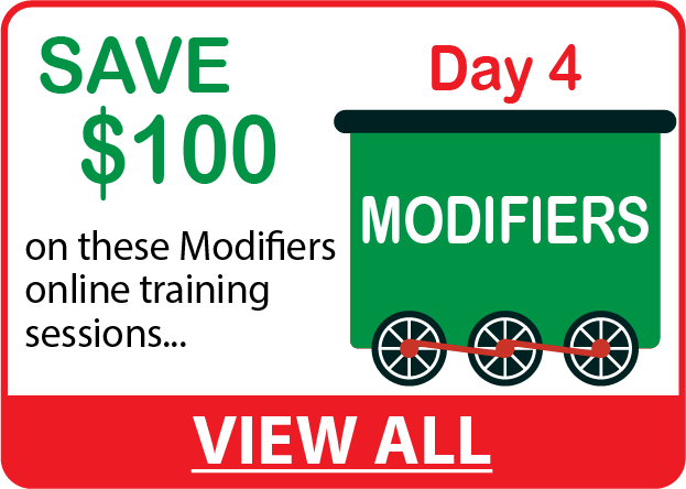 Save $100 on MODIFIERS Online Training