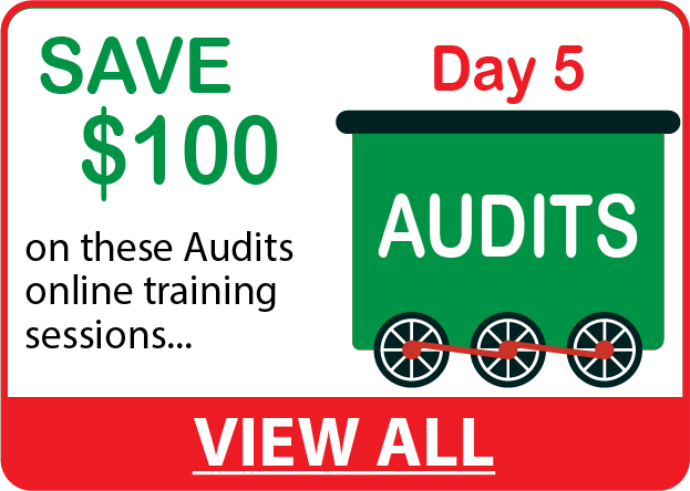 Save $100 on AUDITS Online Training