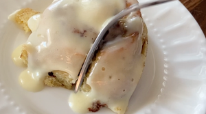 Frosted Cinnamon Rolls | 2g net carbs