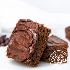 Frosted Fudgy Brownies | 2g net carb