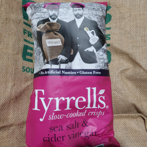 Chips- Tyrrells  Salt and Vinegar 165g   ( GF)