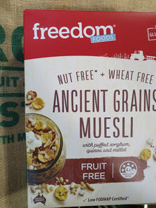 Muesli, Ancient grains fruit free 300g