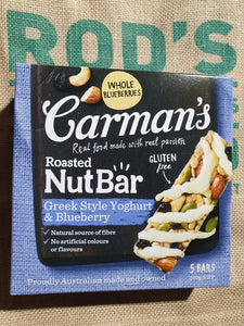 CARMANS NUT BARS GREEK YOGHURT BERRY