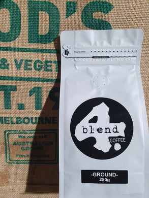 4 Blend Ground 250g Coffee  100%Roasted