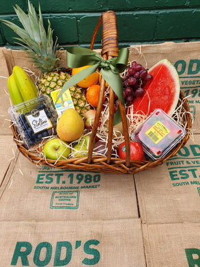 Rod's  Fruit Hamper Basket - The best fruit selection ( currently out of baskets will come in gift box)