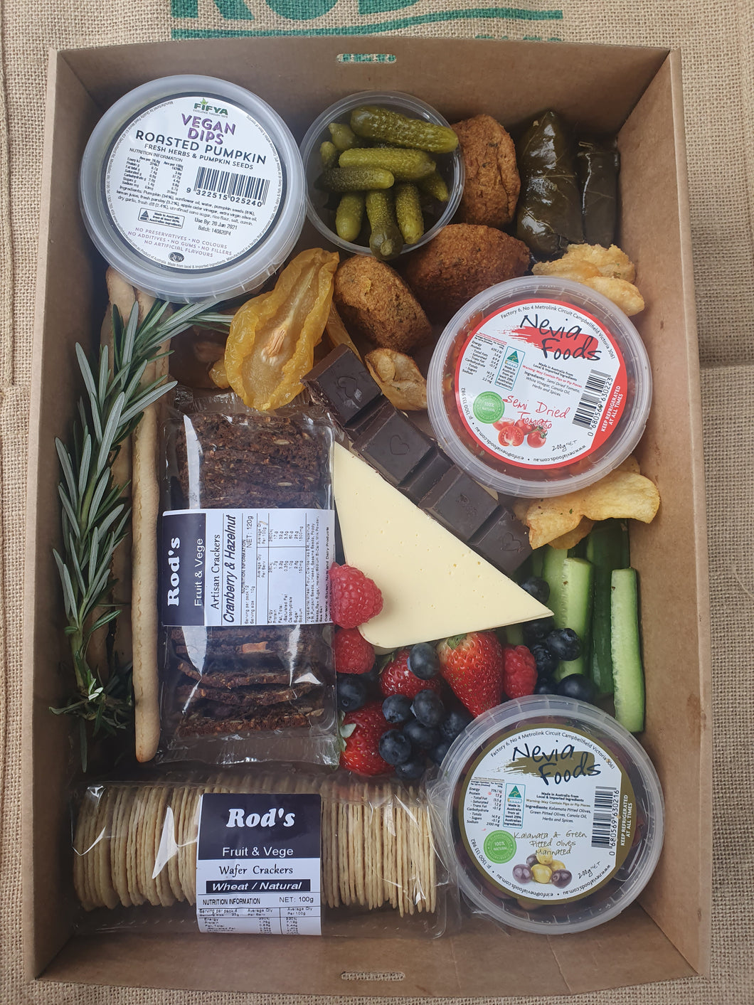 Rod's  Vegan Fine Foods Box   Includes Gift Box n Wrap