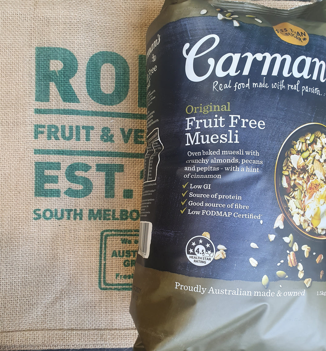 Muesli, Carman's original Fruit Free 1.2kg