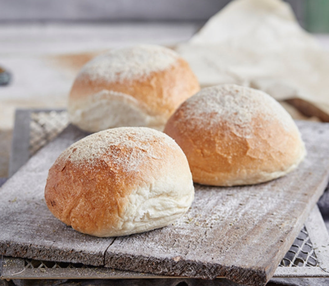 Brumby's- White rolls 6 pack Floured    Order by 4pm