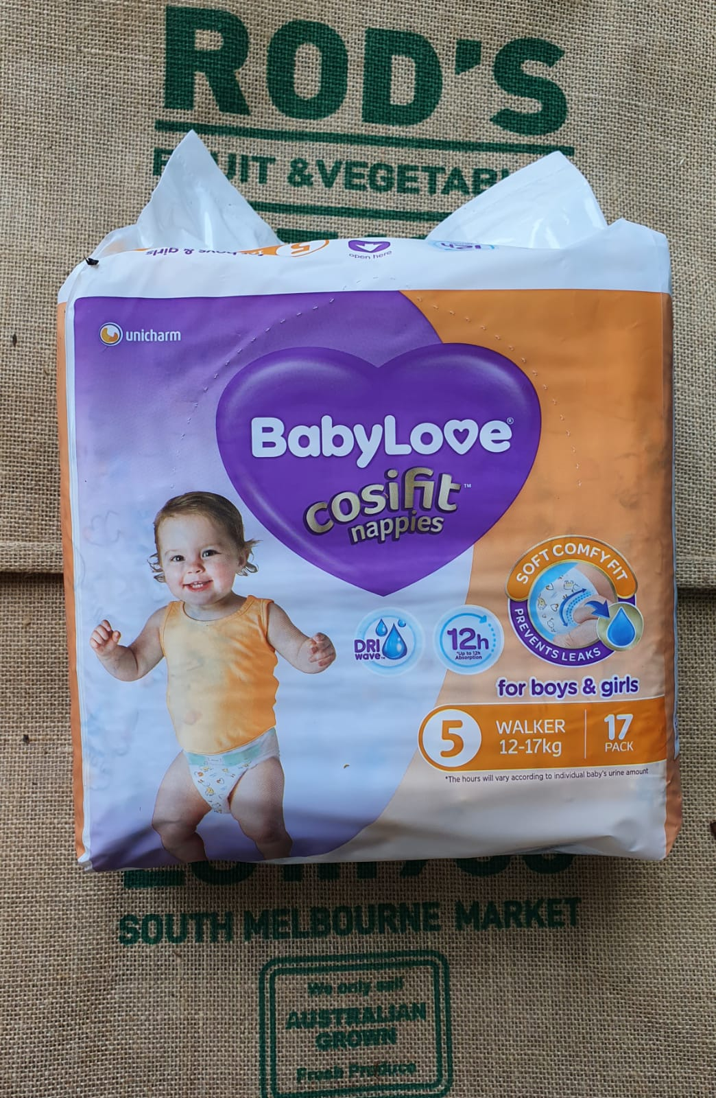 Nappies - Baby Love Walker size 5   (17pack)